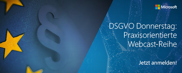 DSGVO Donnerstag Webcast
